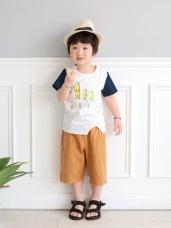 高棉雙口袋立體車線休閒短褲