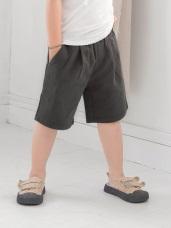 高含棉抓皺造型休閒短褲