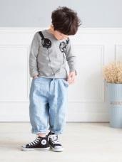 父子系列~親子款高含棉耳機印花造型上衣