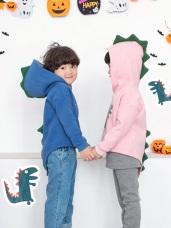 親子款~厚磨毛趣味恐龍燙印棉質上衣