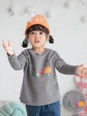 親子款~台灣製造.內磨毛森林遊趣印花上衣