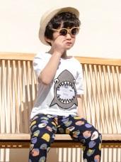 高含棉逗趣鯊魚造型上衣