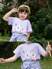 親子系列~童趣兔子毛球高含棉上衣