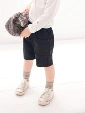 亮眼X車線雙口袋高含棉腰鬆緊短褲