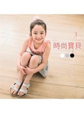 質感仿皮革休閒涼鞋‧男女童3色