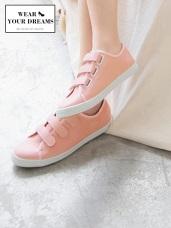 台灣製造~純色仿皮革魔鬼氈休閒鞋.3色