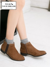 仿麂皮鉚釘個性踝靴