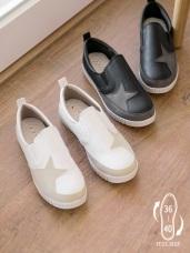 台灣製造~星星拼接仿皮革減壓休閒鞋