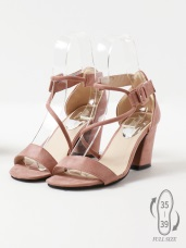 唯美韓系~細繩造型高跟涼鞋