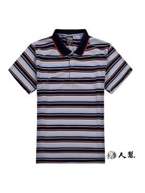 男人幫-多色橫條網眼快乾彈性POLO衫(P0217)