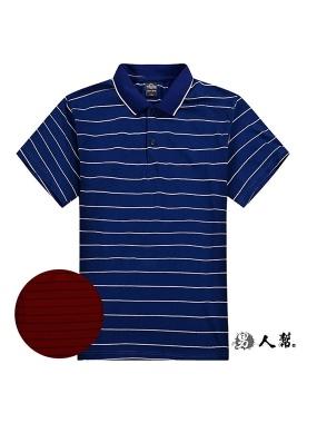 男人幫-多橫條網眼快乾彈性POLO衫(P0216)