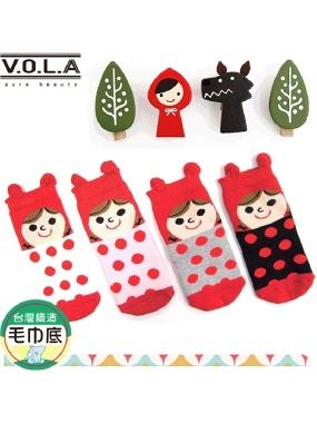 VOLA維菈襪品-兒童立體造型襪 0-2才