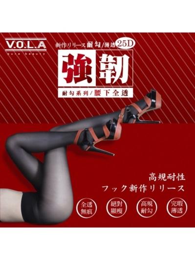 VOLA維菈襪品-強韌耐勾全透絲襪-黑