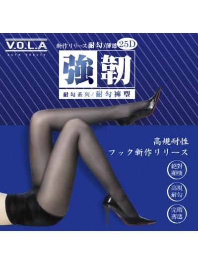 VOLA維菈襪品-強韌耐勾褲型絲襪-黑