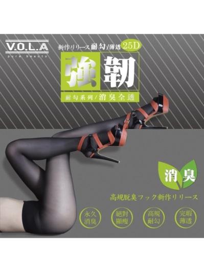 VOLA維菈襪品-強韌消臭全透絲襪-黑