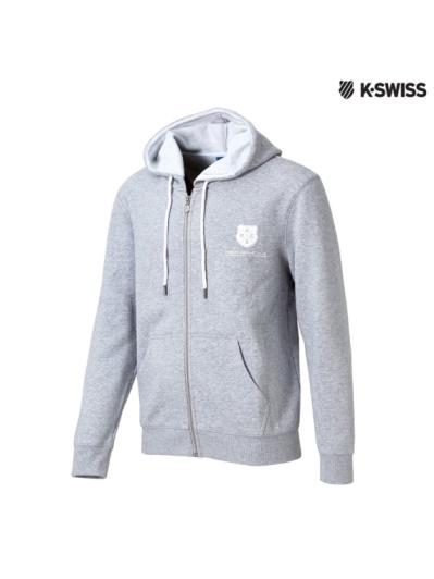 K-Swiss SRC Hoodie Jacket連帽外套-男-灰