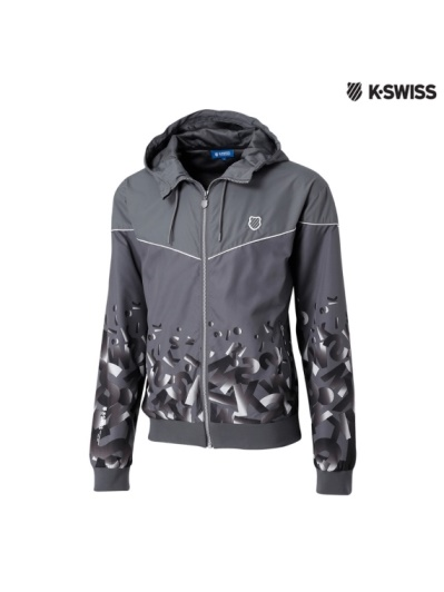 K-Swiss Gradient Windbreaker風衣外套-男-灰