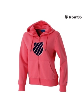 K-Swiss Shield Hoodie Jacket休閒連帽外套-女-莓紅