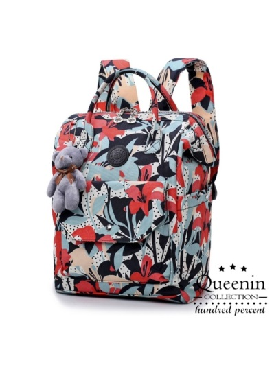 DF Queenin-日本流行前線輕盈款寬口後背包-共2色
