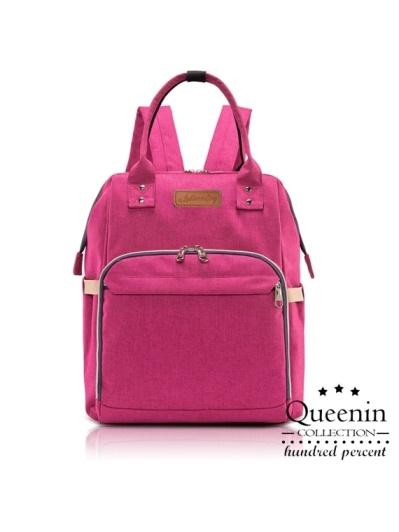 DF Queenin-出國人氣推薦款寬口後背包媽咪包-共3色