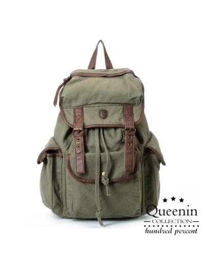 DF Queenin - 女力覺醒帥氣帆布款後背包-共3色