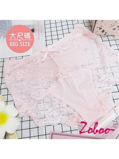 ZOBOO-大尺碼蕾絲性感女性內褲(UN001)
