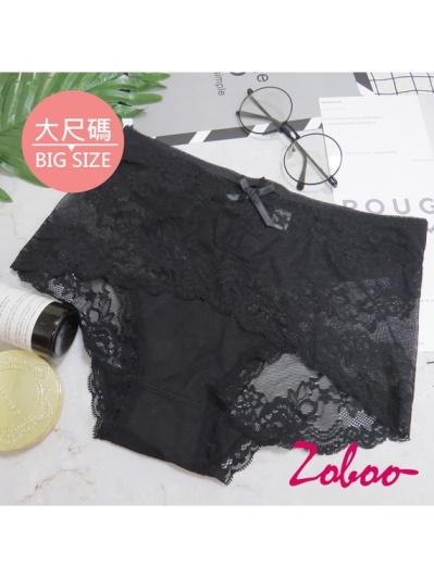 ZOBOO-大尺碼蕾絲性感女性內褲(UN004)