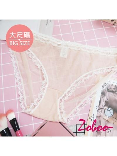 ZOBOO-大尺碼蕾絲甜美女性內褲(UN007)