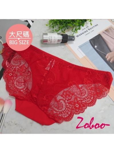 ZOBOO-大尺碼蕾絲款女性內褲(UN016)