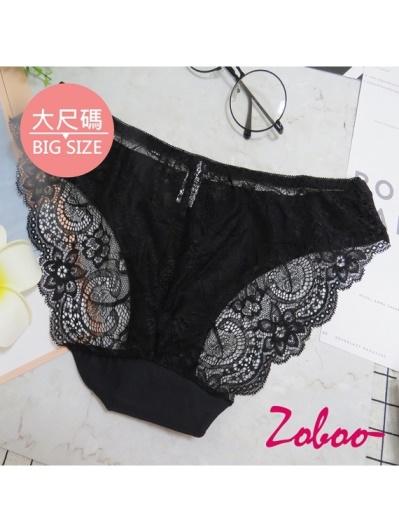 ZOBOO-大尺碼蕾絲款女性內褲(UN017)