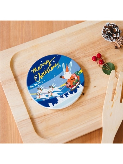 Bo Bonny啵啵妮 - 聖誕兔兔送禮物杯墊