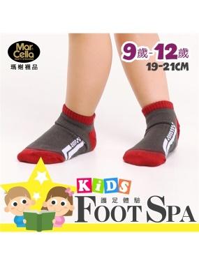 瑪榭-FootSpa兒童足弓腳踝加強透氣運動襪/童襪-直條(19~21cm)