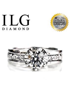 【頂級美國ILG鑽飾】八心八箭戒指-完美情人款RI021主鑽約75分