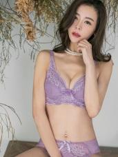 3/4罩質感蕾絲輕薄墊內衣‧2色(34D-42D)