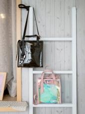 時尚側揹手提透明不規則金片方型包