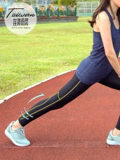 MIT寬腰帶抗UV修身減壓運動壓力褲/瑜伽褲