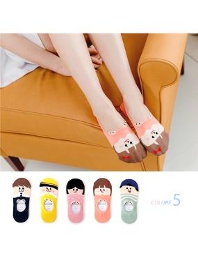韓國趣味小朋友腳後跟防滑脫隱形襪.5色