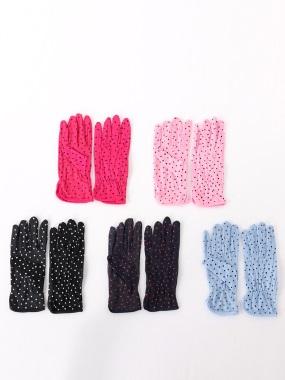 點點印花防曬止滑機車手套.5色