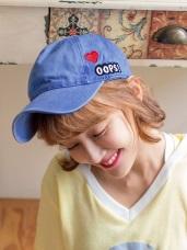 高含棉OOPS刺繡愛心棒壓舌棒球帽