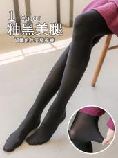 黑萊卡細緻纖維彈性褲襪