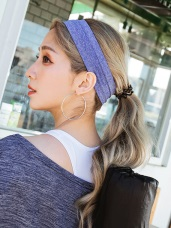 透氣混紗彈性運動髮帶頭巾