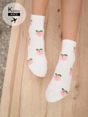 韓國製水果印花短筒襪