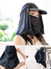 兩用可拆式防曬遮陽帽