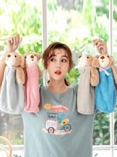 柔軟絨毛童趣熊熊玩偶擦手巾