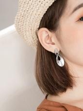 鏤空金屬質感耳環
