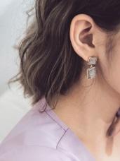 輕奢復古方塊耳環