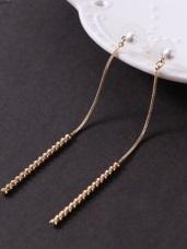 巴黎假期珍珠直豎條耳環