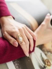 大理石珠指環戒指