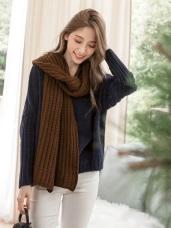 沉穩日常羅紋針織質料圍巾