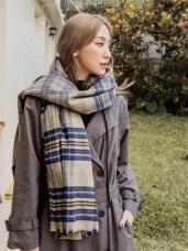 直率文青風格紋圍巾